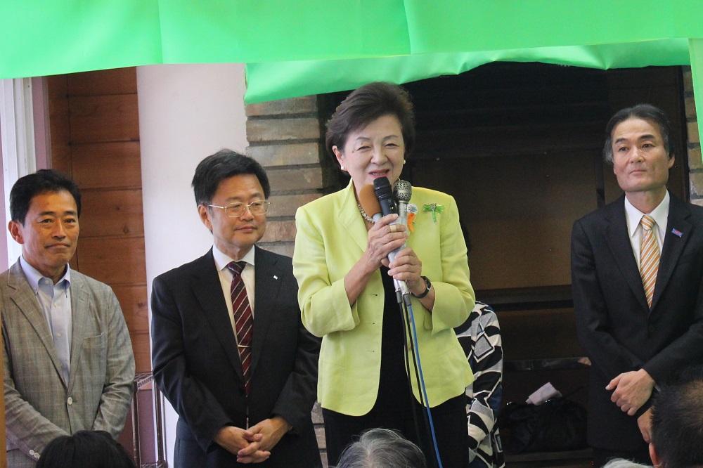嘉田由紀子,事務所開き