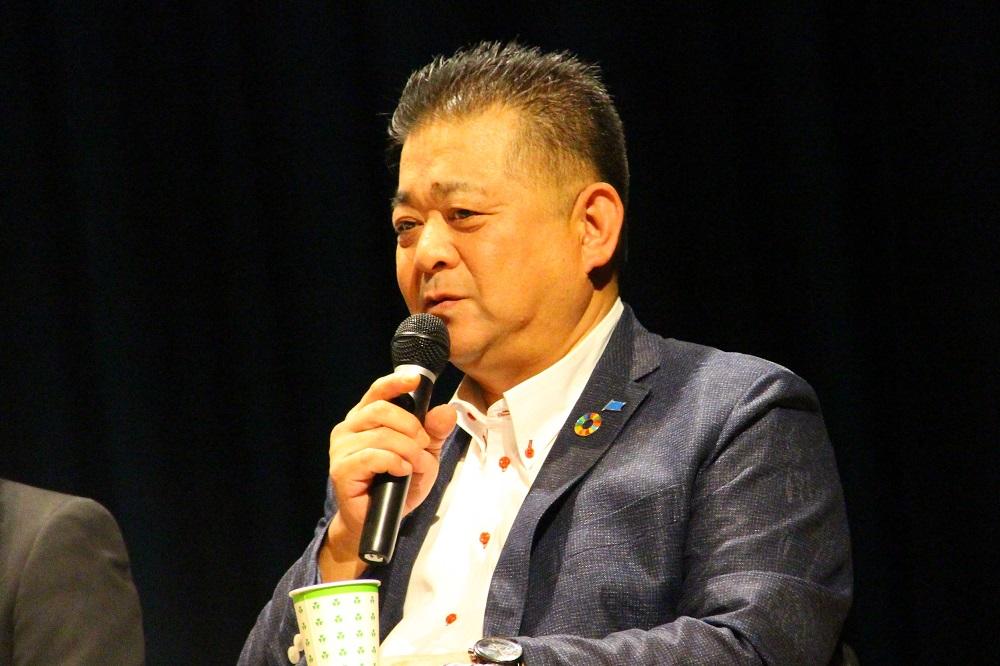 連合滋賀柿迫博会長