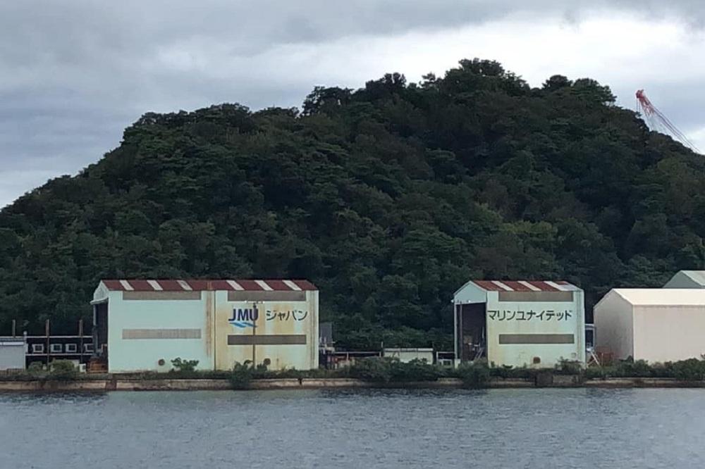 連合滋賀にてジャパンマリンユナイテッドを訪問した集合写真