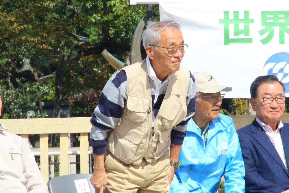 滋賀退職者連合の増田勝治会長