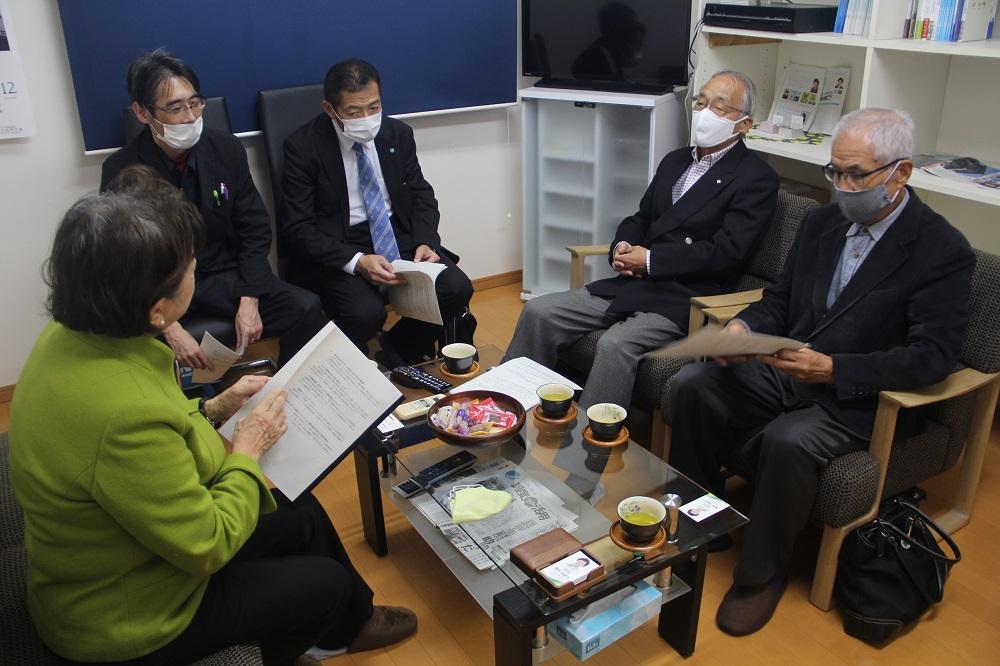 嘉田由紀子参議院議員との意見交換